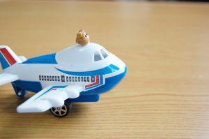 大好きな飛行機のおもちゃ
