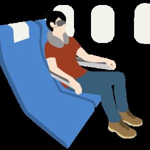 機内では、アルコールは取らずに就寝しないとキケンが高まります。